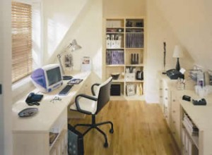 Home Office in White wood