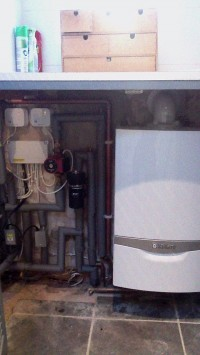 system boiler with unvented cylinder