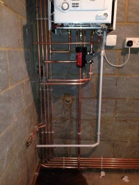Vaillant combination boiler install