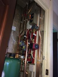 Cylinder run from wood burner and gas boiler