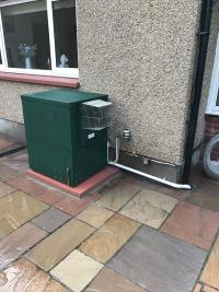 Worcester oil boiler with a 7 year guarantee.