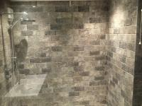 Side view of shower area