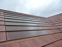 Red Solar Tile Install