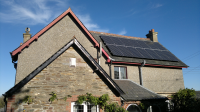 Panasonic panels on slate roof in Cornwall