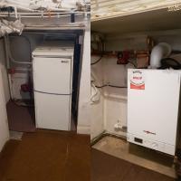 Floor standing boiler replacement