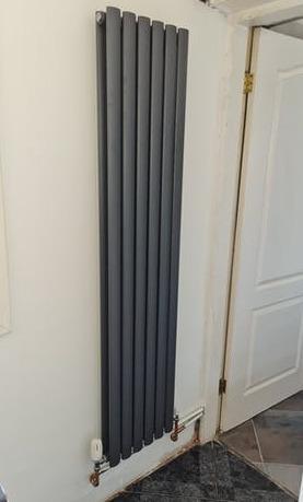 Designer radiator install