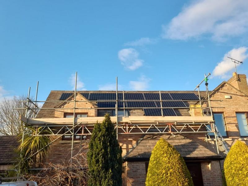 8kWp Sunpower Array in Leeds