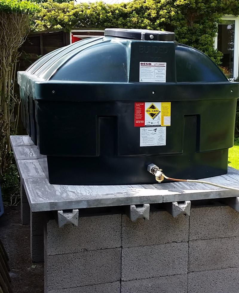 Oil tank replacement incl base
