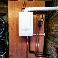 New heat only boiler supplied and Installed in Hamilton