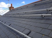 Slate roof work on a 4 kWp array