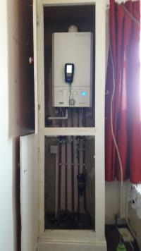 flue gas analysis on new combi boiler installation