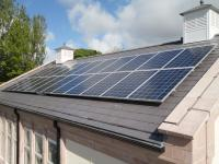Solar PV System installed on a school roof