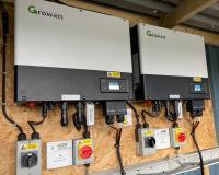 A Pair of Growatt Hybrid Inverters