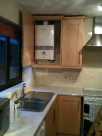 Combi Boiler- Kitchen Installation