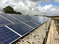 21kW Commercial roof mounted system