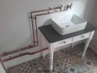 bespoke basin & pipework