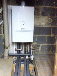 Vaillant 831 installed in a loft