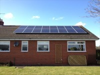 Installation of a 3.92kWp Array Eaton, North Wales