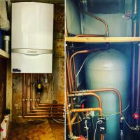 Vaillant combination boiler installation