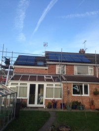 4KW Solar PV Installed on roof levels