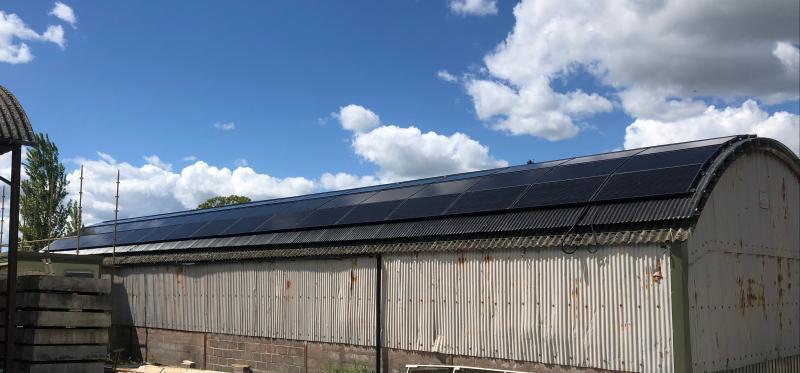 30kW Solar PV on a Dutch Barn