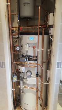 Slimline twin coil unvented Cylinder
