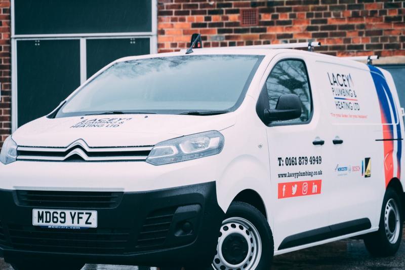Lacey Plumbing & Heating Van