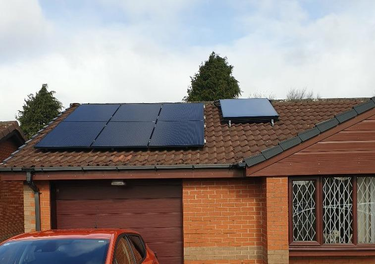 Solar PV, Solar Thermal and Air Source Installed