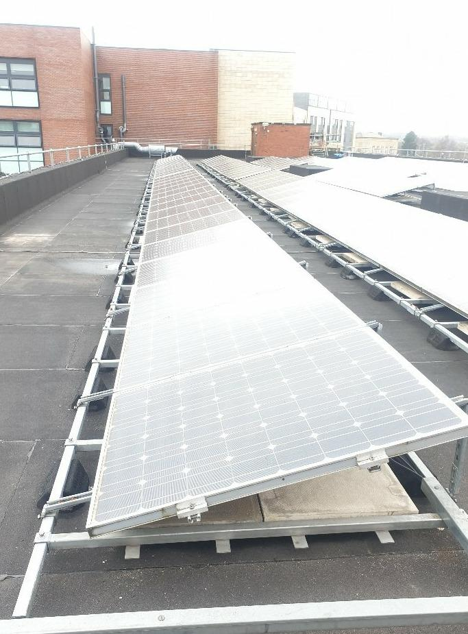 Flat Roof Commercial Solar Install