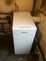 Oil heat only boiler install