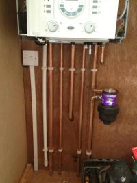 New boiler and magnaclean
