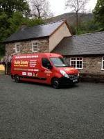 The Boiler Installation Vehicle, You can't miss the bright colours !!!