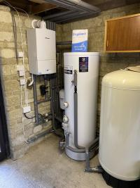 Worcester boiler and cylinder