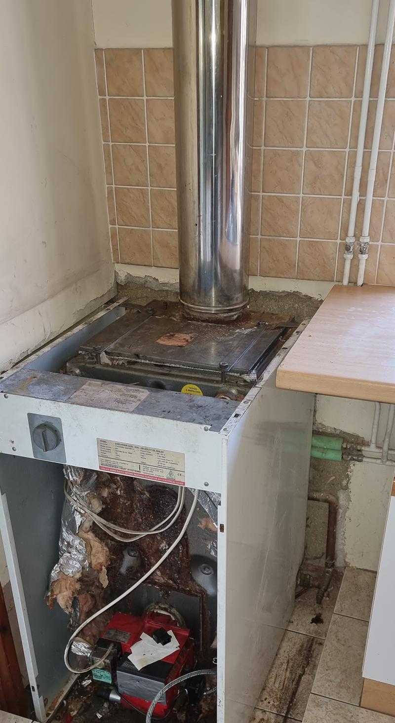 Old Worcester Oil fired boiler