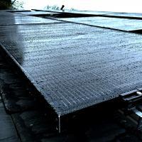 An all-black, solar PV array.
