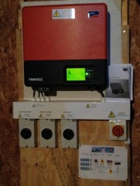 Inverter in loft completed July 2012