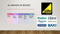 We work with all brands of boilers