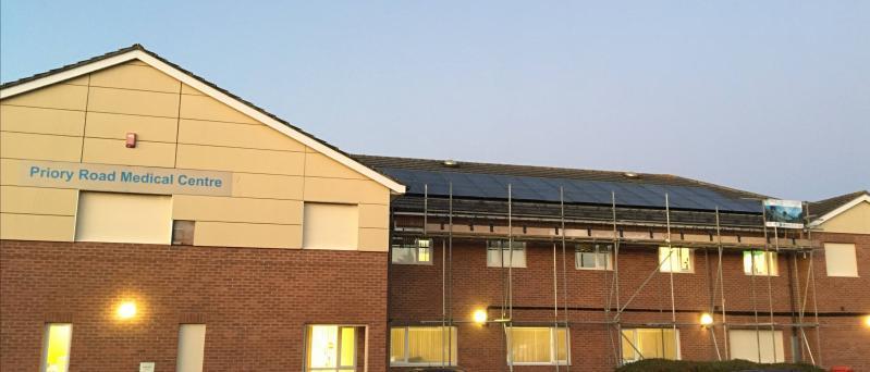 Solar PV on Priory Medical Centre