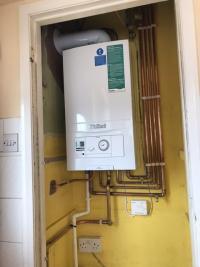 Combi boiler install
