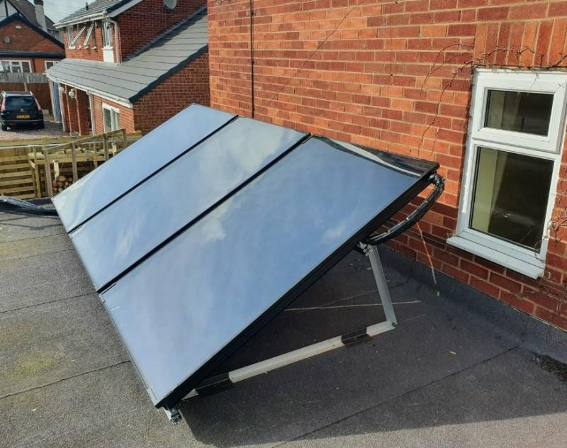 Solar Thermal Panels on Flat roof