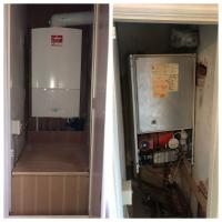 Worcester Combination boiler in the airing cupboard