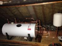Installation of an unvented horizontal cylinder