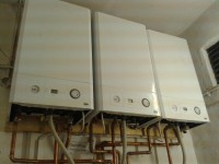 Old peoples care home triple boiler installation
