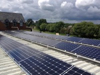 10 kWp PV system on a Car Show Room near Oxford