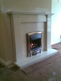 A Valor dream fire in a limestone surround