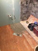 Prep for floor tiling