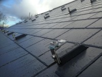 Solar flash for slate roof