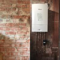 Before and after photo of a Worcester 35CDi Classic system boiler