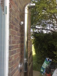 Oil Fired Boiler servicing and Flue Extension by LWL HEating