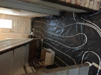 Under floor heating install